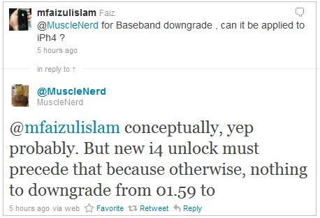 Downgarde iPhone 4 Baseband 2.10.04 to 01.59.00 Coming Soon