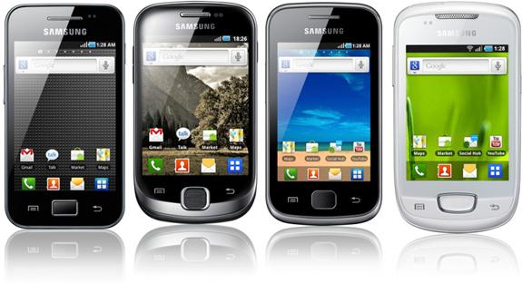 Samsung Outed Galaxy Ace, Galaxy Fit, Galaxy Gio and Galaxy Mini
