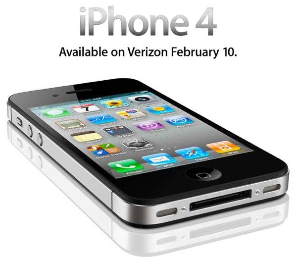 Verizon iPhone 4 Coming Earlier Next Month