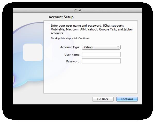 Yahoo Messenger to Mac OS X Lion iChat App - The Tech Journal