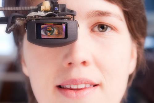 OLED Microdisplay Based Eyetracking HMD
