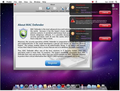 MacGuard New Mac Defender Malware Variant