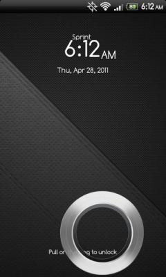 HTC Sense 3.0 Lockscreen For EVO 4G