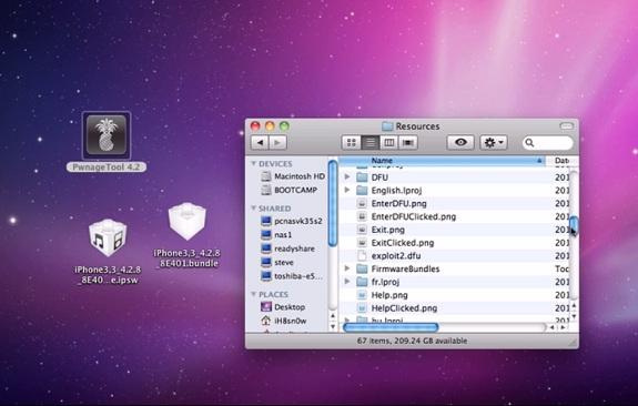 Download PwnageTool 4.2 Bundles for iOS 4.2.8 Verizon iPhone 4 on Mac