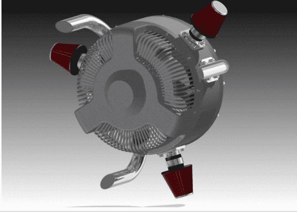 Bi Rotating Engine X