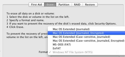 how to encrypt external hard drive mac
