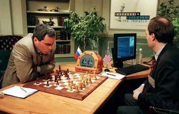IBM's Chess-playing Computer 'Deep Blue' Beats Garry Kasparov, Image Credit : IBM