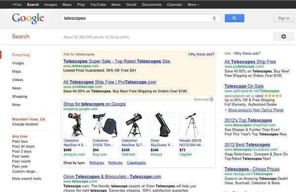 Google Shopping, Image Credit: Google
