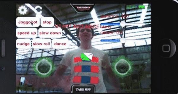Joggobot Tracking Special Markings On  A T-shirt, Image Credit : Screenshot