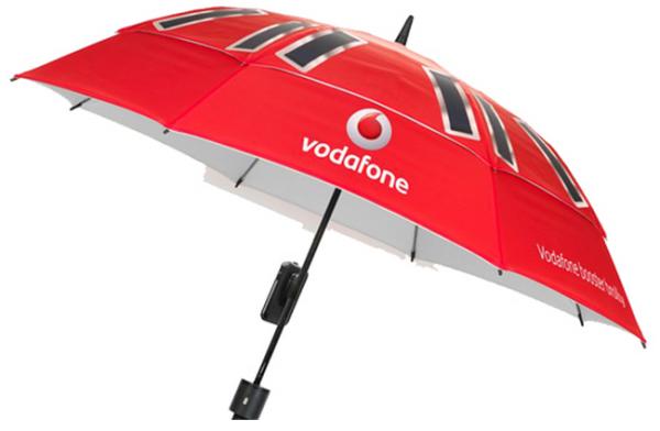 Vodafone Booster Brolly Umbrella, Image Credit : blog.vodafone.co.uk