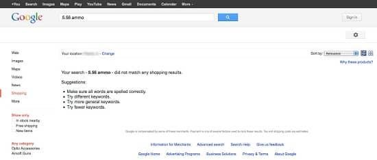 Google-556-search, Image Credit: gunsandammo.com