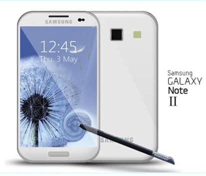 Samsung Galaxy Note 2, Image credit: gadgetsarena.org