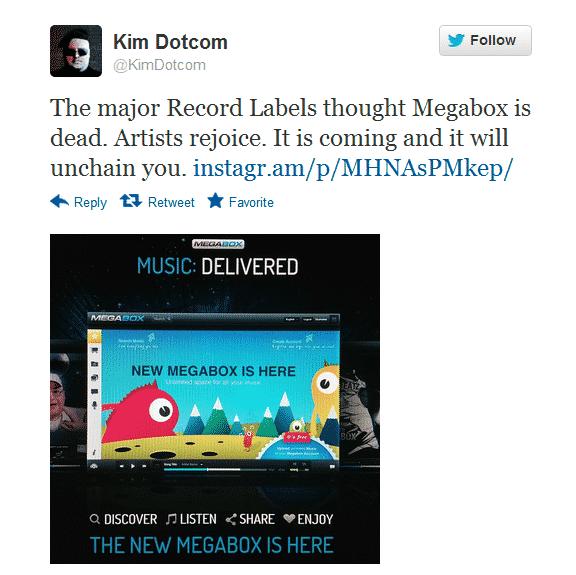 Confirmation Of Megabox By Kim Dotcom
