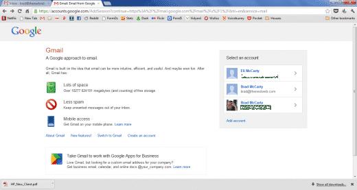 Gmail multiple login