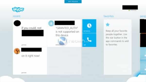 Skype Win8 app 1