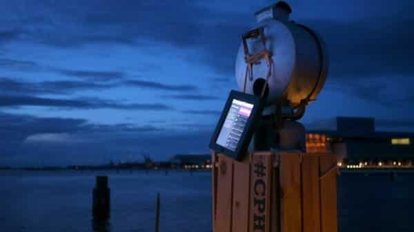Morse code light signal installation