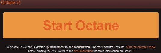 Octane JavaScript benchmarks suite
