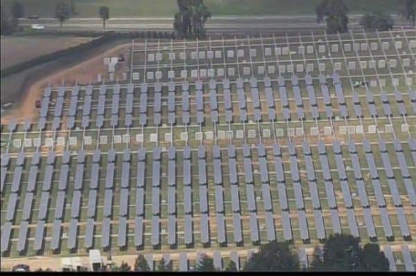Gigantic Solar Farm Of Apple