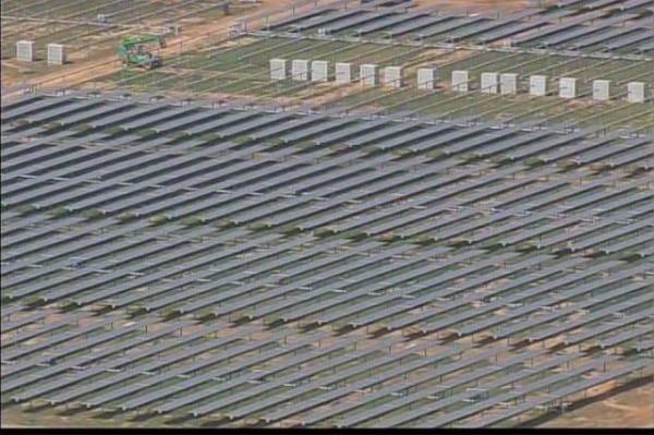Solar Farm On The 100 Acres Land