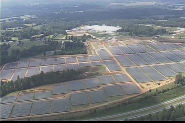 Apple's Solar Farm, Image Credit : WCNC-TV