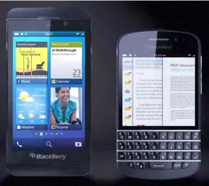 Leaked BlackBerry 10 smartphones