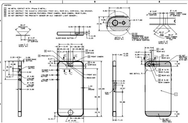 Detail Schemes, Schematics And Blueprints Of iPhone 5