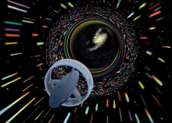 Futuristic Warp Drive Spaceship