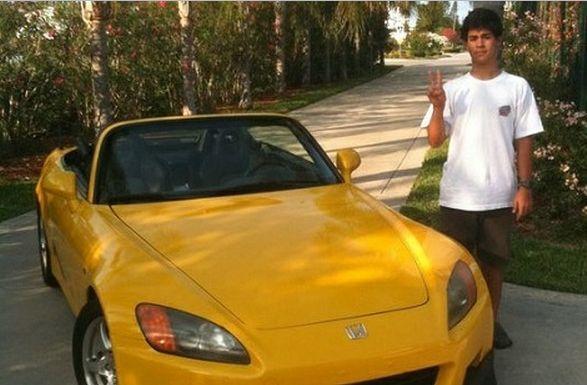 Juan With His Honda S2000 Car