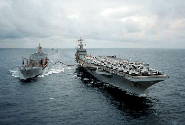 US Naval Fleet At Sea