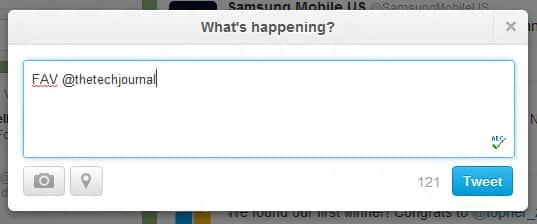 Twitter shortcut for favorites