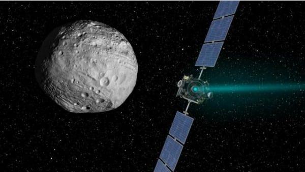 Asteroid Hitting Spacecraft