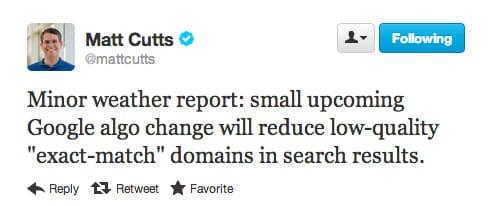Google algorithm update news from Matt Cutts