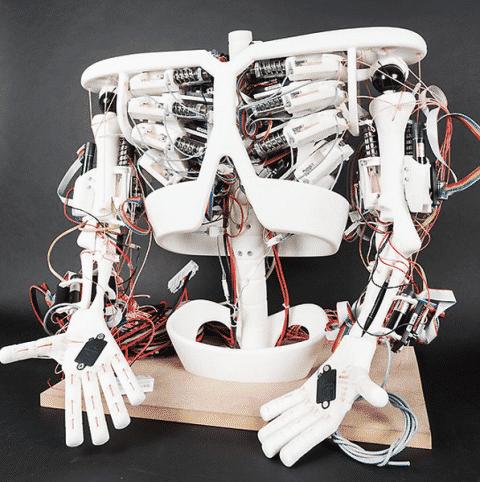 Unique Tendon Driven Robot - Roboy