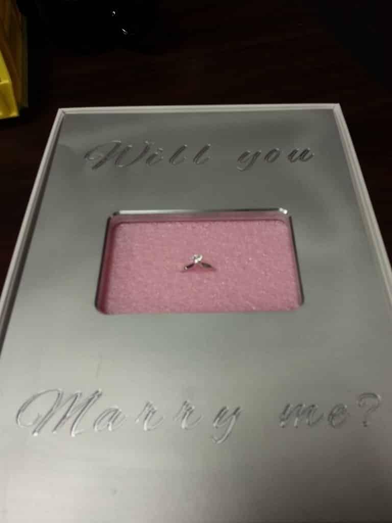 iPad wedding ring