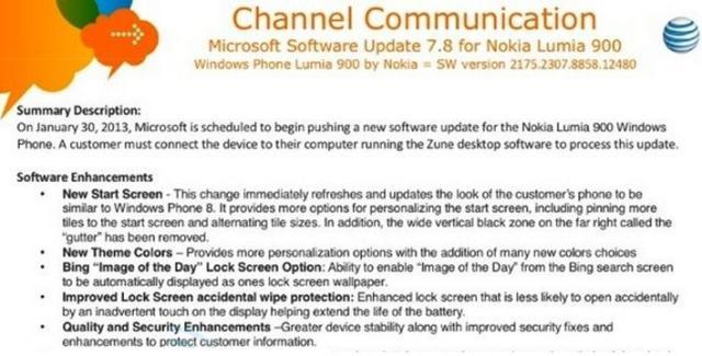 Announcement Of Windows Phone 7.8 Upgrade
