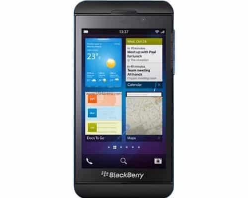 BlackBerry Z10,image credit:gsmarena.com