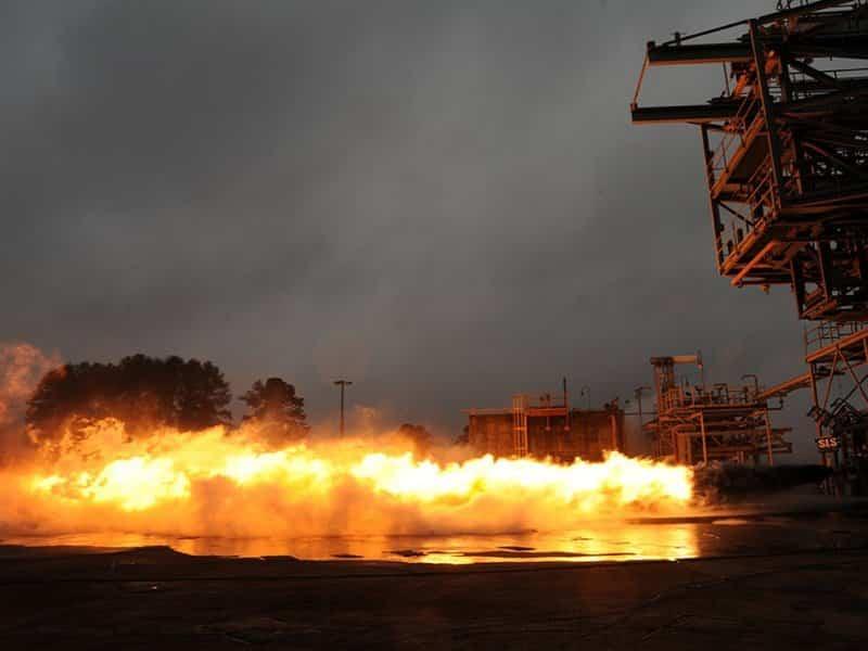 F-1 Rocket Engine Fired