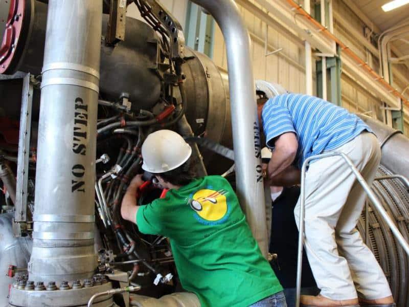 Refurbish Of Saturn V F-1 Rocket Engine