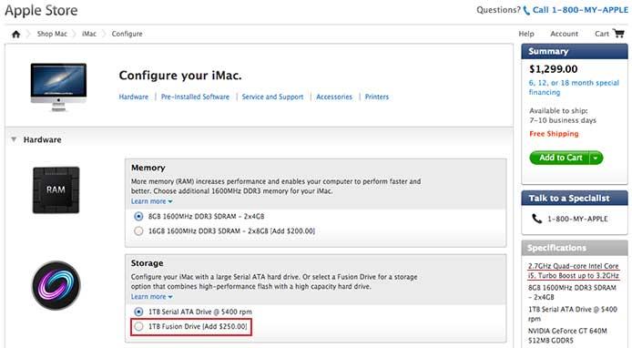 iMac Fusion Drive