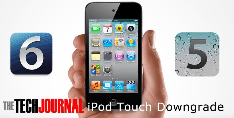 ipod touch downgrade ios6 ios5 ttj logo