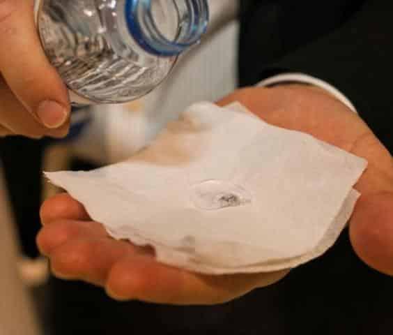 DryWire's Nano-treated Napkin