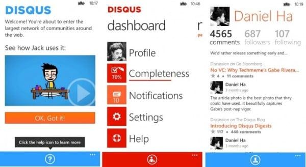 Disqus Windows Phone app