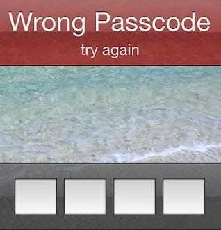 iPhone Wrong Passcode
