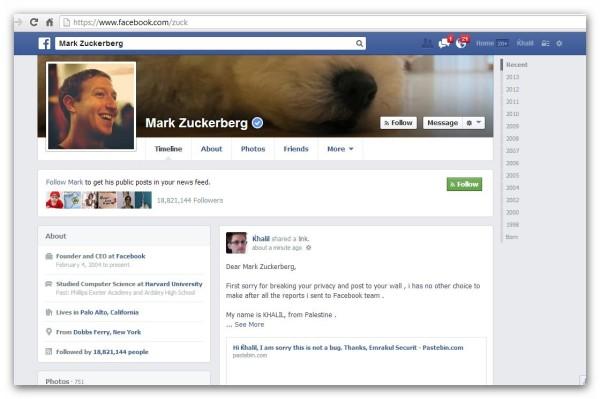 Facebook exploit