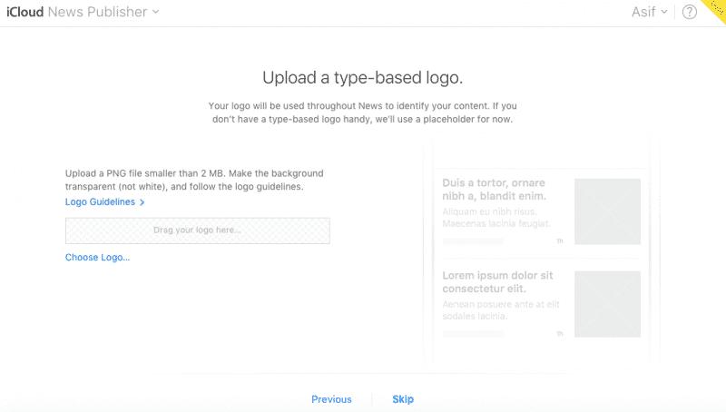 Apple News Add a Type-based Logo