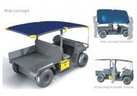 Tool-Powering Solar Work Vehicle