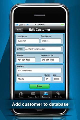 credit card machine on iphone