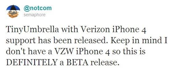 Download TinyUmbrella 4 21 08 for Verizon iPhone 4 To Save