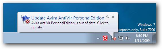 Windows 7 Update Avira AntiVir