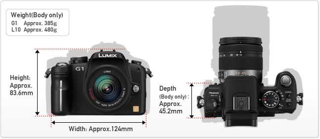 Panasonic Lumix DCM-G1 interchangeable lens digital camera highlights